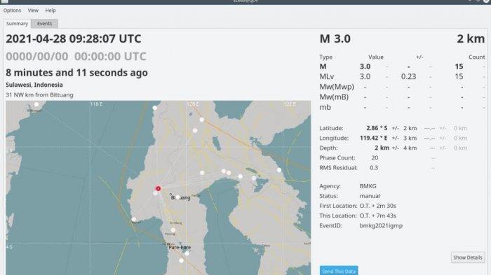 Jelang Buka Puasa, Mamasa Diguncang Gempa 3,0 SR