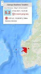 Gempa Susulan Mag 5.2 SR Kembali Guncang Mamuju, Warga Berhamburan Keluar Rumah