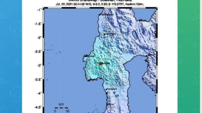 Gempa Mamasa 5,3 M Juga Terasa di Palopo