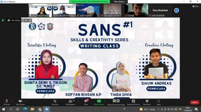 Deputi PSDM GenBI Wilayah Sulsel Gelar GenBI Skills & Creativity Series
