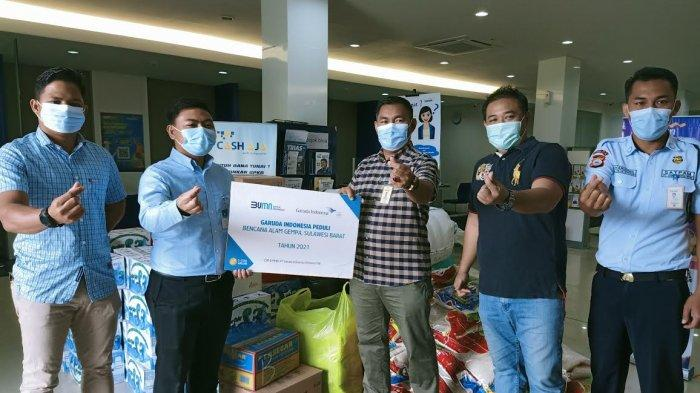 Garuda Indonesia Peduli Kembali Salurkan Bantuan untuk Korban Gempa Sulbar