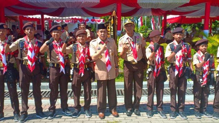 Dollah Mando Hadiri Apel Besar Pramuka Sulsel, Berharap Kontingen Implementasikan Kedisiplinan