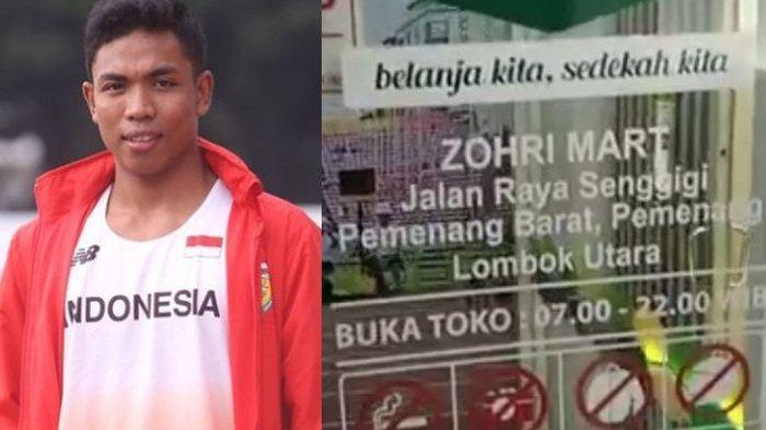 Gini Penampakan Zohri Mart, Minimarket Lalu Muhammad Zohri sang Atlet, Kok Tak Jual 2 Barang Ini?