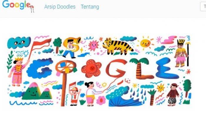 Google Doodle Turut Rayakan Hari Kemerdekaan Indonesia, Ini Pesannya!