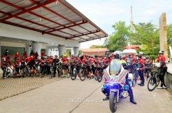 100 Civitas Akademika Unhas Tour Sepeda 65 Km dalam Rangka Dies Natalis