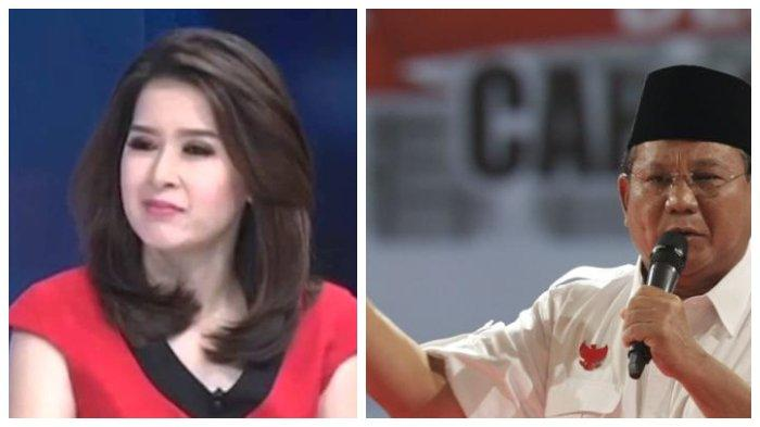 Prabowo Subianto Cueki Grace Natalie PSI di Pelantikan Jokowi - Maruf Amin, Efek Kebohongan Award?