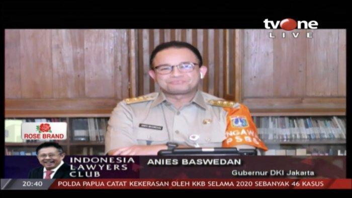 Serunya ILC TV One Tadi Malam soal PSBB Jakarta, Anies Baswedan: Jangan Hanya Lihat Tingkat Kematian