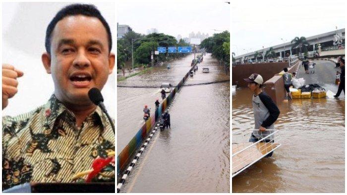 Gubernur DKI Jakarta, Anies Baswedan dan banjir Jakarta