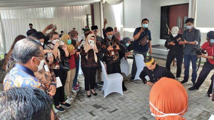 Gubernur Nurdin Abdullah Disambut Angngaru dan Tari 4 Etnis di Yogyakarta