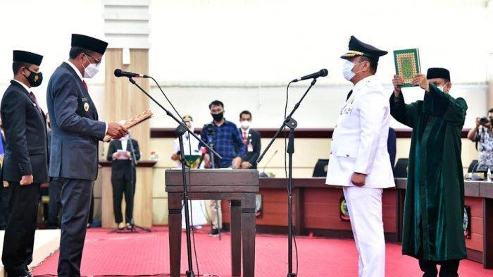 Nurdin Abdullah Lantik Irwan Bachri Sebagai Bupati Luwu Timur, Sehari Setelah SK Kemendagri Turun