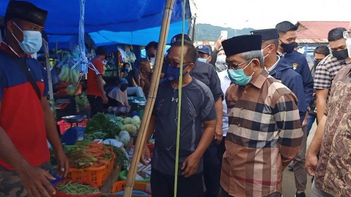Gubernur Sulbar Sidak Dua Pasar Tradisional di Kota Mamuju