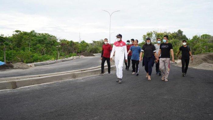 Nurdin Abdullah Jogging 4,4 Km, dari Tanjung Bira Bulukumba ke Titik Nol Sulsel