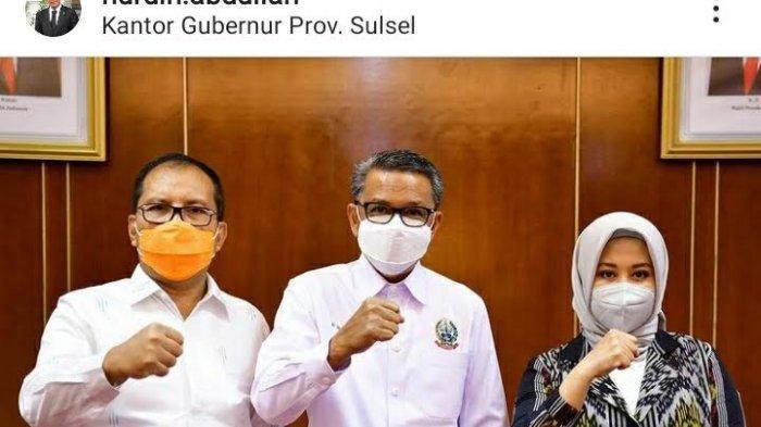 BREAKING NEWS: Nurdin Abdullah Unggah Foto Bersama Danny-Fatma di Kantor Gubernur