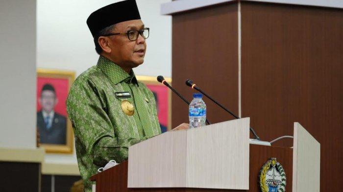 Gubernur Sulsel Nurdin Abdullah pada Rapat Paripurna DPRD Sulsel di Kantor DPRD Sulsel Jl Urip Sumoharjo Makassar, Senin(14/9/2020).