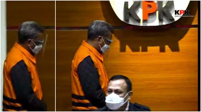 Foto Nurdin Abdullah Resmi Tersangka Korupsi, Pakai Rompi Oranye KPK, Tak Pulang ke Makassar