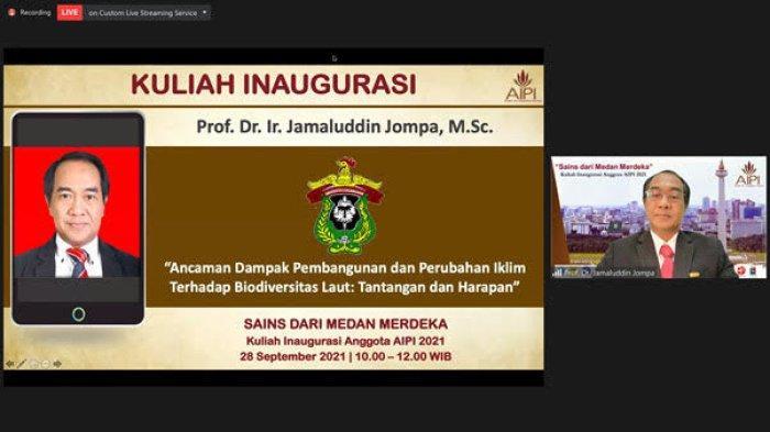 Kuliah Inagurasi, Prof JJ Bahas Dampak Pembangunan dan Perubahan Iklim Terhadap Biodiversitas Laut