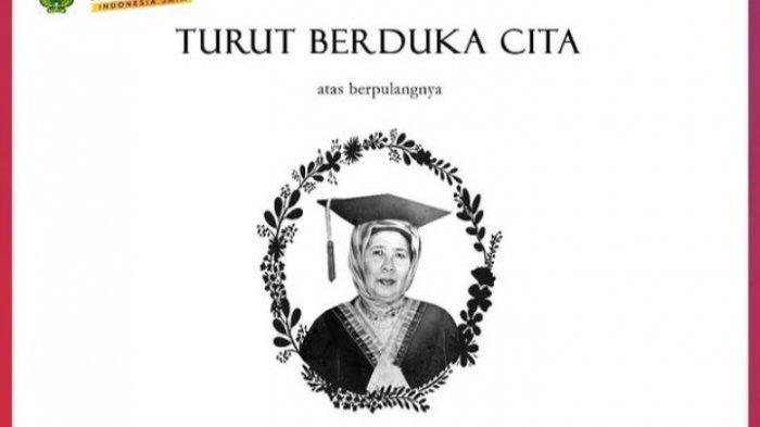 Innalilahi, Guru Besar Emeritus Fakultas Pertanian Unhas Prof Farida Nurland Meninggal Dunia