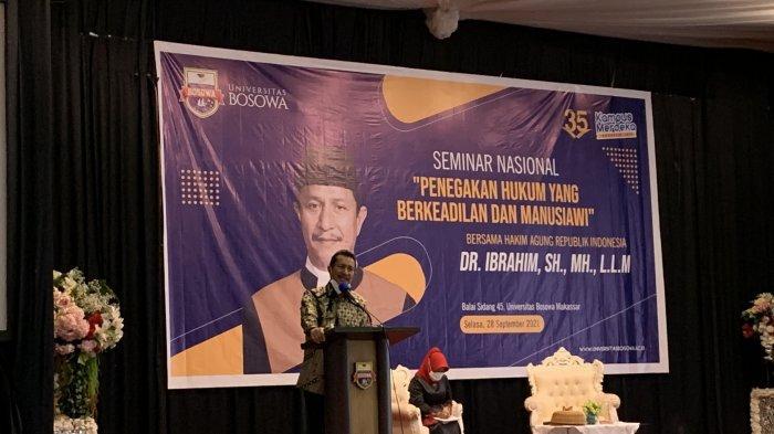 Unibos Hadirkan Hakim Agung Dr Ibrahim, Bahas Penegakan Hukum Berkeadilan dan Manusiawi