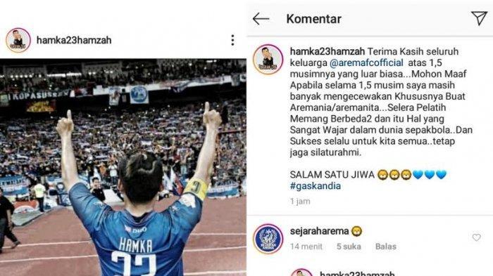 Hamka Hamzah Pamit dari Arema FC, Kembali ke PSM Makassar?