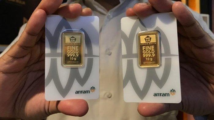 Harga Emas Hari ini Jumat 26 Februari 2021, Turun Banyak Kini Pecahan 2 Gram Rp 1.888.000