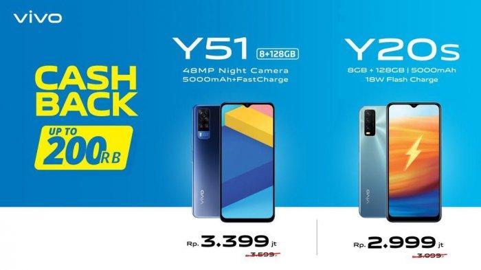 UPDATE Harga Terbaru Hp Vivo April 2021 di Erafone, Cashback Up To Rp 200 Ribu, Y51 hingga Y20s