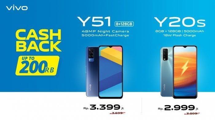 Harga Terbaru HP Vivo Maret 2021 di Erafone, Harga Baru Y51 dan Y20S Cashback Rp 200 Ribu