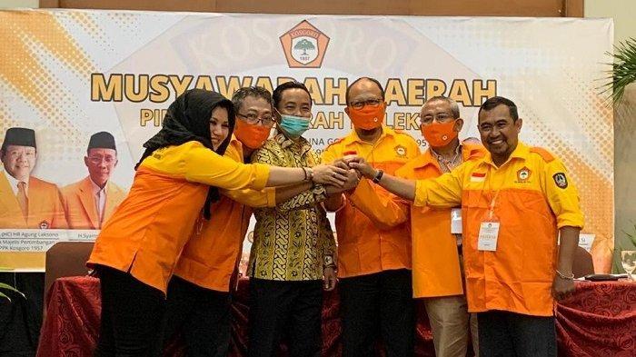 Aklamasi, Haris Yasin Limpo Ketua Kosgoro Sulsel, Tautoto Tanaranggina Sekretaris