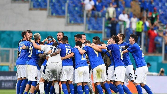 Hasil Euro 2020 Italia Vs Wales, Gli Azzurri Juara Grup A usai Menang 3 Kali Berturut-turut