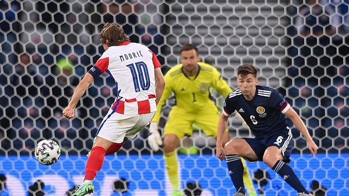 Hasil Euro 2020 Kroasia Vs Skotlandia,4 Poin Cukup Bagi Tim Vatreni Temani Inggris di Babak 16 Besar