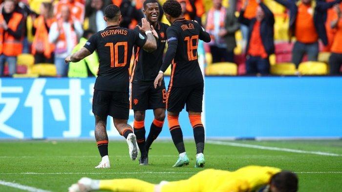 Hasil Euro 2020 Makedonia Utara Vs Belanda 0-3, De Oranje Juara Grup C usai Sapu Bersih Pertandingan