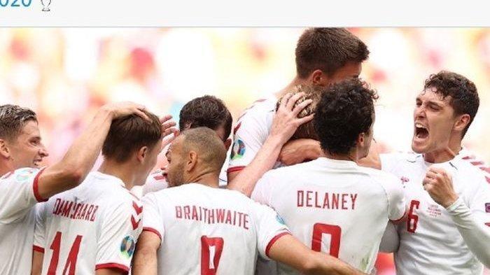 Hasil Euro 2020 Wales Vs Denmark - Tim Dinamit Lolos ke Perempat Final Piala Eropa usai Pesta 4 Gol
