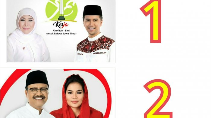 Hasil Hitung Cepat Pilkada Jatim -  Sementara, SMRC Unggulkan Saifullah, LSI Denny JA Khofifah