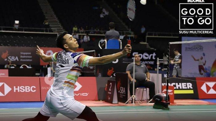 Hasil Japan Open 2019-Kalahkan Jan O Jorgensen, Jonatan Christie Tantang Kento Momota di Final