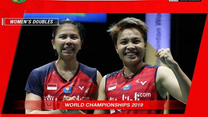 Hasil Kejuaraan Dunia BWF 2019, Greysia/Apriyani Gagal Tembus Final, Pulang dengan Medali Perunggu