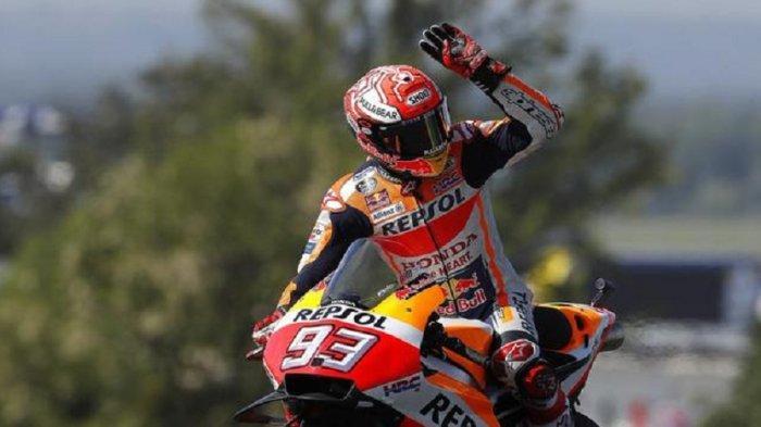 Hasil MotoGP San Marino 2019: Marc Marquez Tercepat Disusul Fabio Quartararo, Rossi Keempat