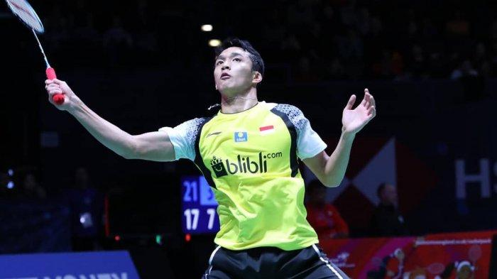 LIVE STREAMING Indonesia Open 2019, Jonatan Christie Melaju ke Perempat Final, Kento Momota Terhenti