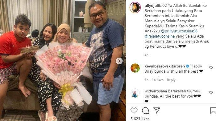 Sekali Endorse Dibayar Rp100 Juta, Prilly Latuconsina Beri Uang Merah Mirip Bunga di HUT Ibunda