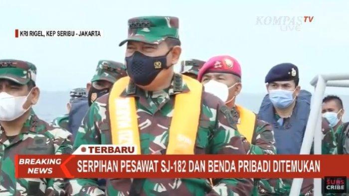 KSAL Laksamana Yudo: Hingga 11 Januari 2021 Jenazah Tak Ditemukan Cuman Potongan di Sriwijaya Air