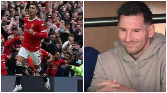 Beda Nasib Megabintang Cristiano Ronaldo Gemparkan Old Traford, Lionel Messi Hangat Bangku Cadangan