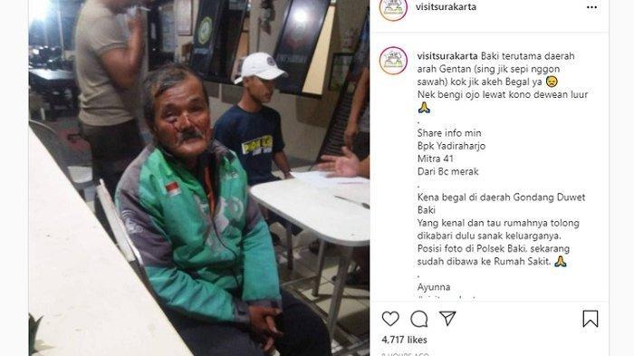 Viral Orang Tua Berprofesi Driver Gojek Dibegal Kemudian Dirampok di Jawa Tengah