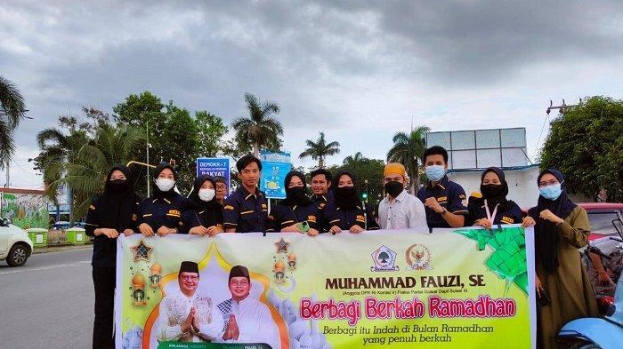 Muhammad Fauzi Gandeng AMPI Luwu Utara dan Kader Golkar Berbagi Berkah Ramadan
