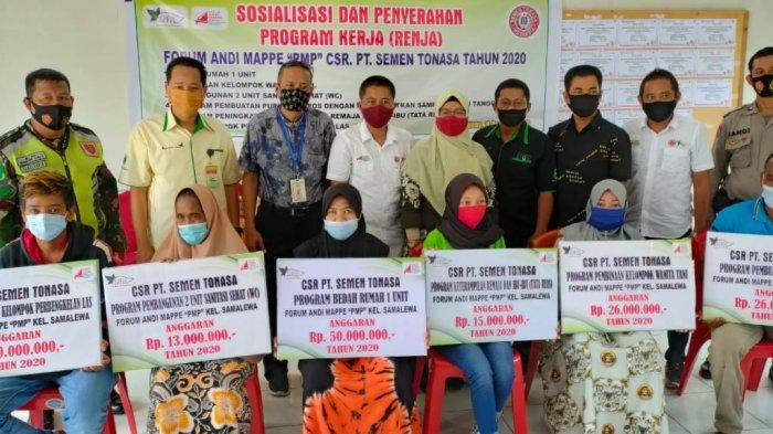 PT Semen Tonasa Gandeng Forum CSR Andi Mappe Kelurahan Samalewa Salurkan Bantuan ke Warga Ring 1