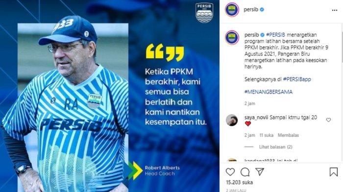 Persib Bandung Harus Tunggu PPKM Berakhir sebelum Latihan Bersama, 3 Pemain Masih di Luar Negeri