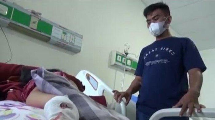 Kini korban mata bocah dicungkil ayah dan ibu menjalani perawatan di rumah sakit Syech Yusuf, Kota Sungguminasa, Gowa hingga hari ini, Senin (6/9/2021).