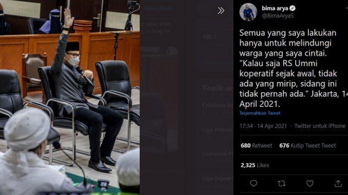 Habib Rizieq Divonis 4 Tahun, Netizen Sorot Bima Arya 'Kamu Tidak akan Pernah Tidur Nyenyak'