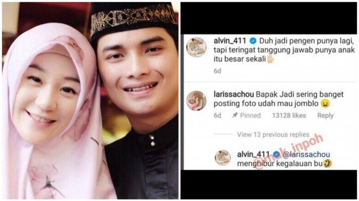 Kini setelah dalam proses cerai Selebgram Larissa Chou dan Alvin Faiz akhir saling sapa di akun Instagram, Selasa (1/6/2021).