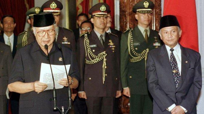 Detik-detik Menentukan Soeharto Buat Pidato Berhenti Jadi Presiden Sebelum Reformasi 1998