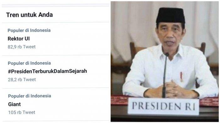 Warganet Twitter Sindir Joko Widodo Hingga Viralkan Presiden Terburuk Dalam Sejarah