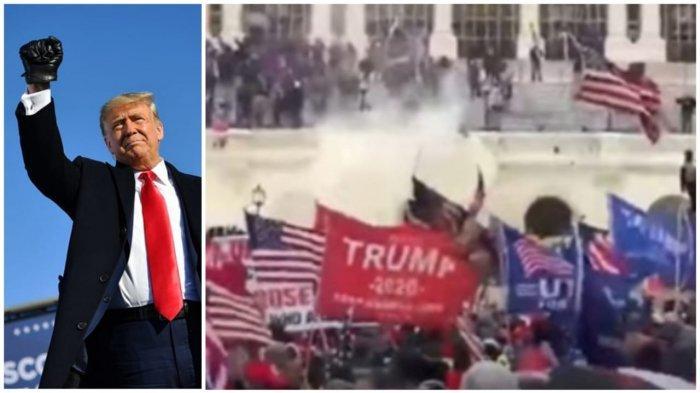 Amerika Serikat Mencekam Pasca Donald Trump Serukan Serang Capitol Hall Hentikan Joe Biden Menang