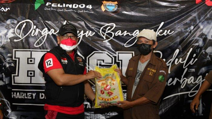 HDCI Makassar Bagi-bagi 7 Ton Beras di HUT Kemerdekaan RI ke-76